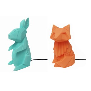 Süße Tier-Lampen im Origami Design