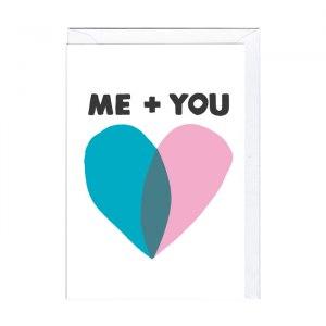 "Sött kort ""Me + you"""