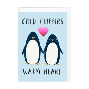 """Sött kort """"Pingvinkärlek"""""""