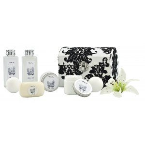 Spa-set Vitt te
