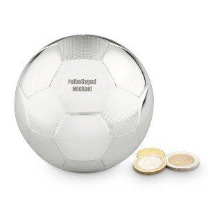 Sparbössa fotboll med gravyr