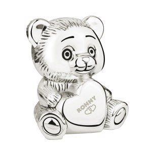 Sparbössa nallebjörn med hjärta och valfri gravyr