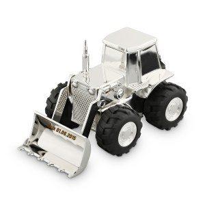 Sparbössa traktor med gravyr