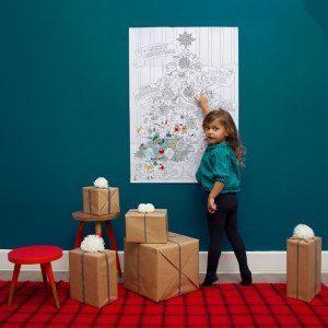 Stor Julgrans tavla för barnen