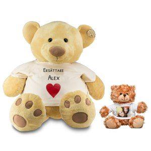 Stor teddybjörn med namn