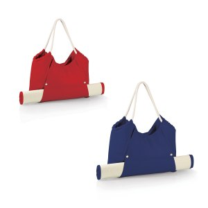 Strandväska med bambumatta