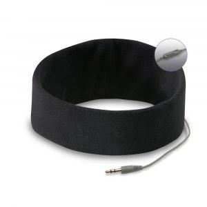 Svart pannband med inbyggda hörlurar- en pyjamas för öronen