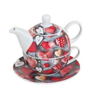 Tea for one: Tekanna med kopp Hjärtan