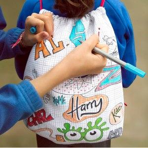 Tvättbar Doodle-väska som kan målas