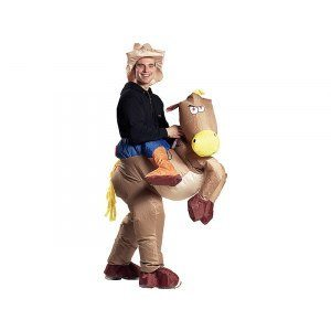 Uppblåsbar dräkt - Cowboy med häst