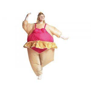 Uppblåsbar maskeraddräkt - Ballerina