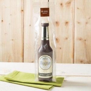 Uppsättning med choklad-ölflaska
