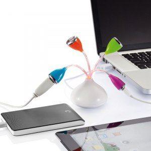 USB-hubb Blomma