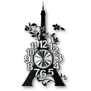 Väggklocka Eiffeltornet - klistras på väggen