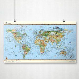 Världskarta för surfare