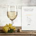 Vitt vin glas med gravyr Flamingo