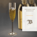 Champagneglas med graverad monogram
