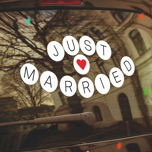 Just Married dekal