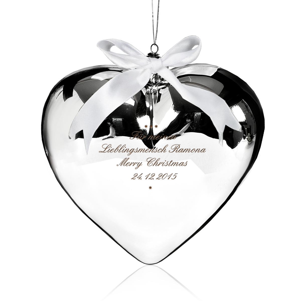 Kärleksfull gåva  glashjärta med gravyr
