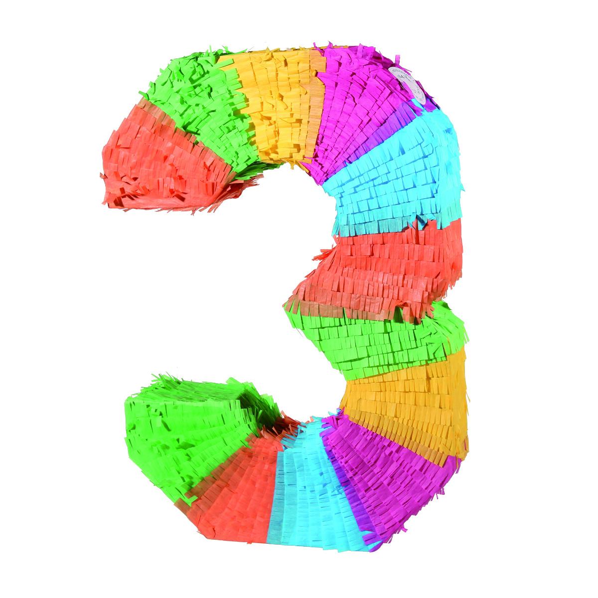 Piñata ?färgglada sifforr'' - 3